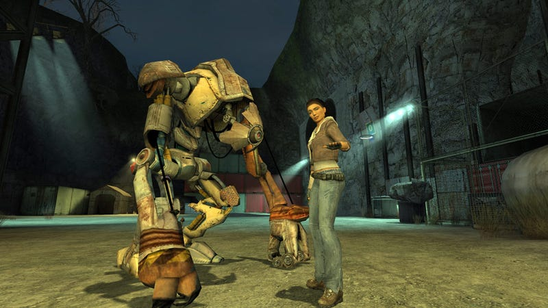 A screenshot of Half-Life 2, taken from the store page.