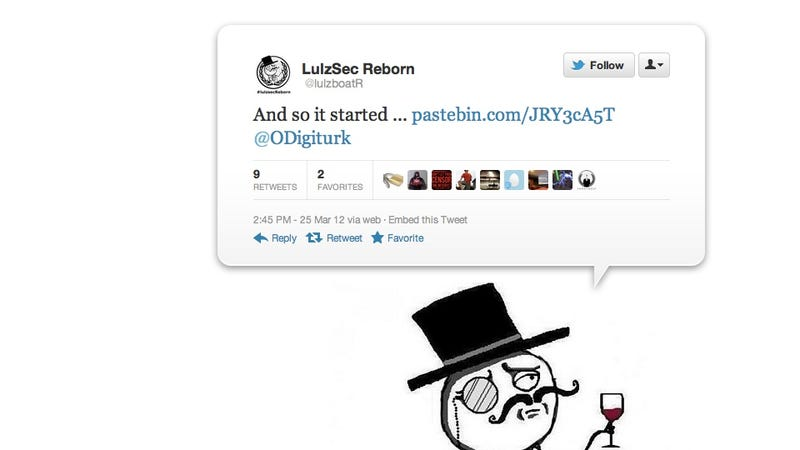 Illustration for article titled LulzSec Claims Big Comeback with Military Dating Site Hack