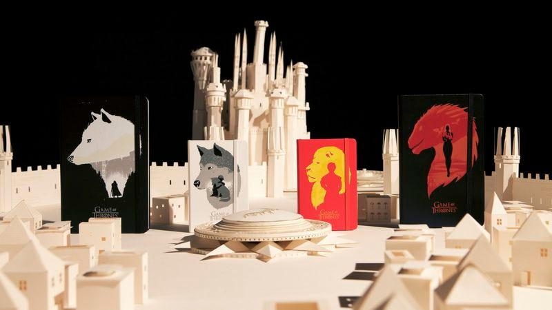 Illustration for article titled Win a collection of limited-edition Game Of Thrones Moleskine notebooks