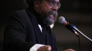 Cornel West campaigns for Democratic presidential candidate Bernie Sanders in Ames, Iowa, Nov. 15, 2015.Alex Wong/Getty Images