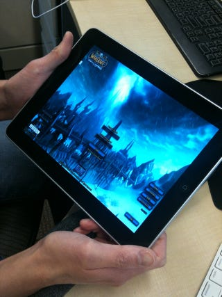 Illustration for article titled World of Warcraft Running On iPad—Streamed