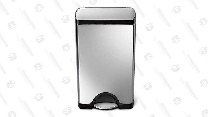 simplehuman 38 Liter / 10 Gallon Stainless Steel Rectangular Kitchen Step Trash Can   $100   Amazon