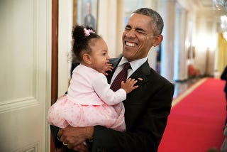 """""""This is my happy face!"""" April 3, 2015White House Photo by Pete Souza"""