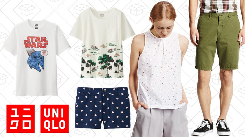 Men's Star Wars Graphic Tee, $10 | Women's Bonne Maison Graphic Tee, $10 | Women's Chino Micro Shorts, $15 | Women's Eyelet Sleeveless Blouse, $20 | Men's Chino Shorts, $20 |