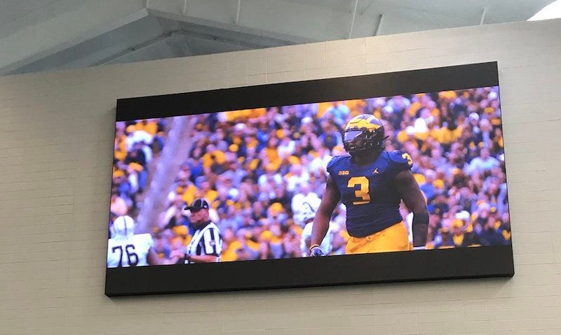 Illustration for article titled Today In Dumb Shit College Sports Programs Spend Money On Instead Of Paying Players: Gargantuan TV