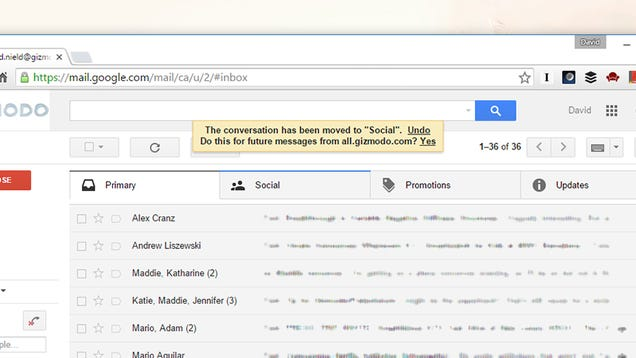 how to make an email default on gmail
