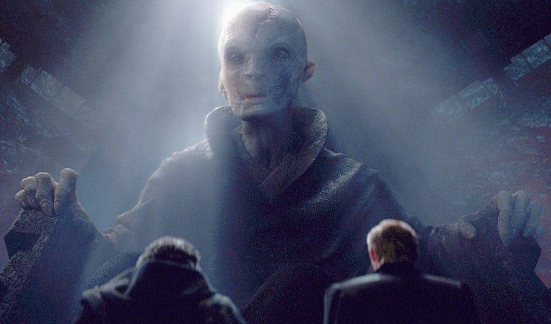 Illustration for article titled Tendremos que esperar hasta el Episodio IX para saber la identidad de Snoke, el villano más importante de Star Wars