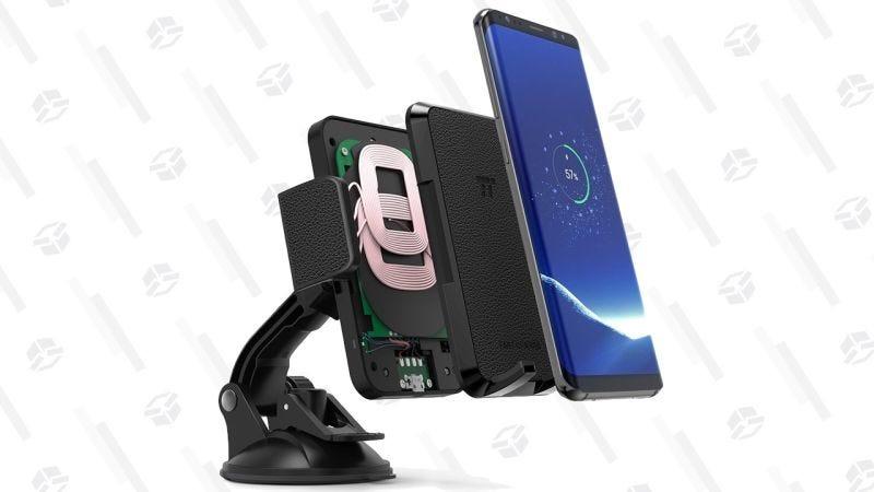 Soporte TaoTronics con carga inalámbrica para el coche | $20 | Amazon | Usa el código GIZTTSH004Gráfico: Shep McAllister