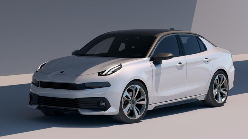 Illustration for article titled Lynk & Co's New Concept Car Is This Strangely Thick-Looking Sedan