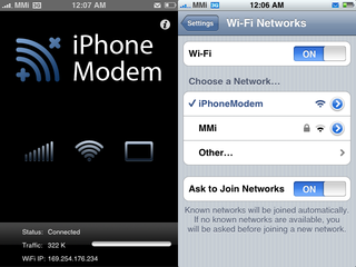 Illustration for article titled iPhone Modem App Promises 10 Second iPhone Tethering