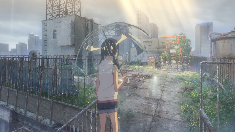 Hina Amano climbing to the roof of a building.