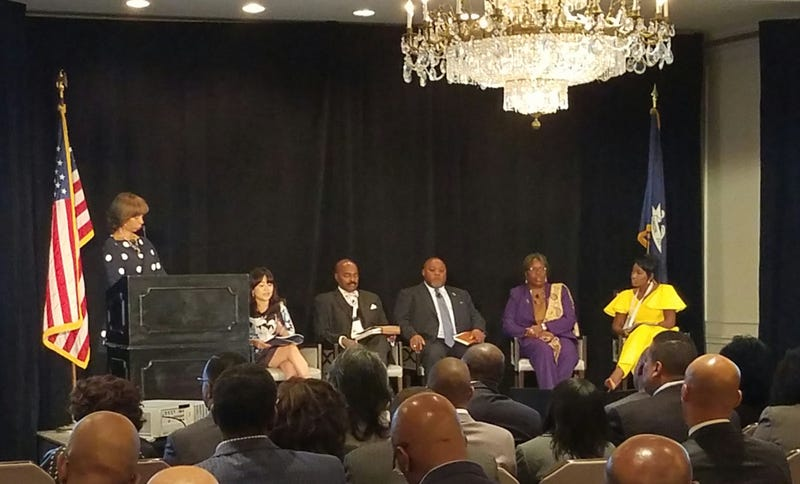 Members of the National Black Caucus of State Legislators discuss redistricting and the census at their annual conference in New Orleans in December 2016.Twitter
