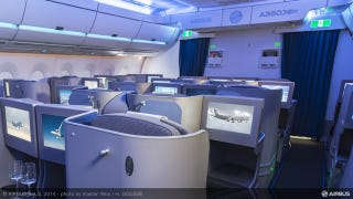 Illustration for article titled Near-Vertical Walls Make Airbus' New A350 Straight-Up Comfortable