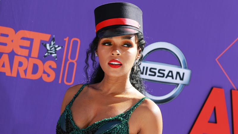 Janelle Monáe attends the 2018 BET Awards in Los Angeles on June 24, 2018.