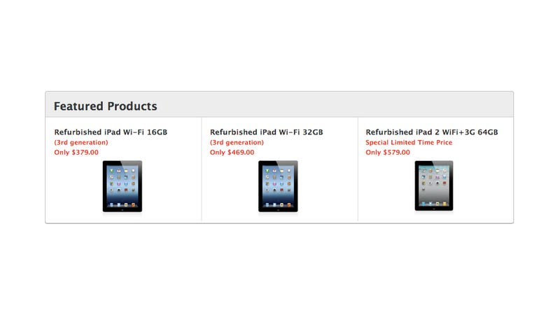 Illustration for article titled You Can Buy an iPad 3 with Retina Display for Cheaper Than the iPad 2