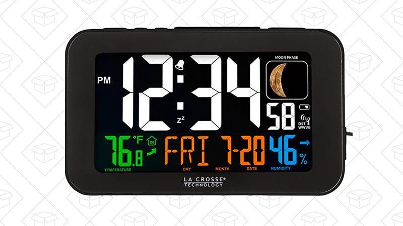 La Crosse Technology 617-1485B Atomic Color Alarm Clock    $27   Amazon