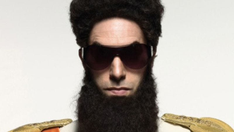 Illustration for article titled Here's your first look at Sacha Baron Cohen's inherently humorous beard for The Dictator