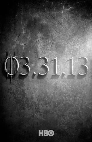 Illustration for article titled Game of Thrones will be back in March!