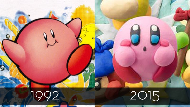 Illustration for article titled He's Just A Pink Blob, But Kirby Sure Has Changed Over The Years