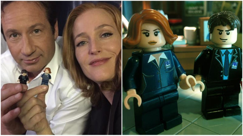 Illustration for article titled Gillian Anderson REALLY Wants Lego to Make an Official X-Files Set