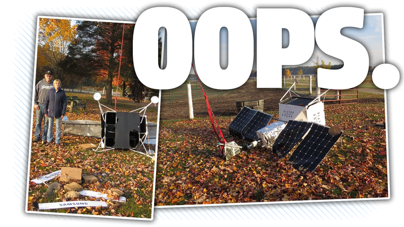 Illustration for article titled 'Satellite' Falls From Sky And Crashes In Michigan Yard