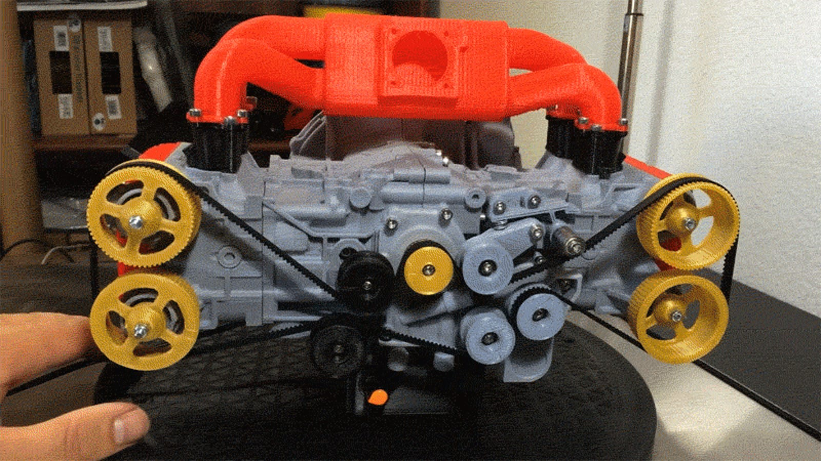 Build Your Own Subaru >> This 3D Printed Subaru Flat-Four Engine Is Deeply Satisfying