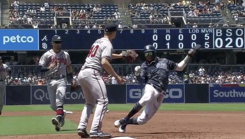 Fernando Tatis Jr. Bends Fabric Of Space And Time, Avoids Getting Tagged Out
