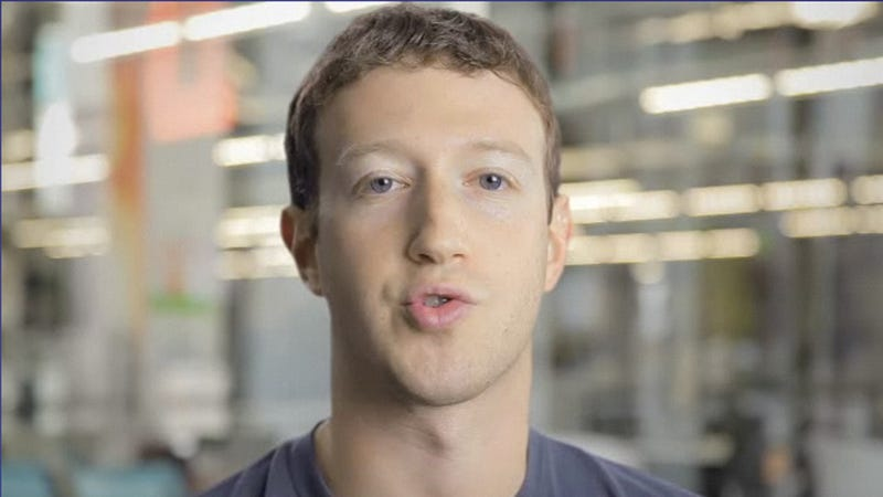 Illustration for article titled Why Is Mark Zuckerberg Wearing So Much White Eye Shadow?