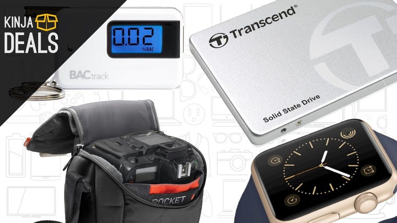 Illustration for article titled Today's Best Deals: Flash Storage, Camera Bags, Breathalyzer, and More