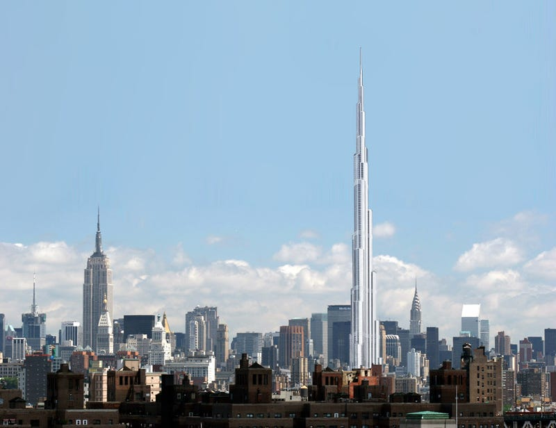 Illustration for article titled This Is What the Burj Dubai Would Look Like in Midtown Manhattan