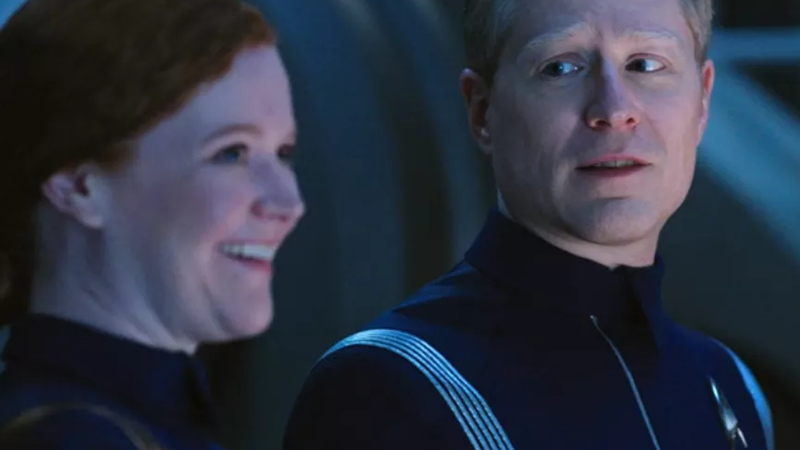Star Trek: Discovery characters Cadet Tilly and Lt. Stamets dropped the Trek franchise's first F-bombs. Image: CBS All Access