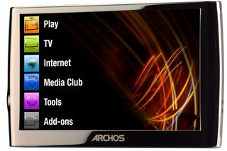 Illustration for article titled Archos Gen-6 5G PMP is 3G Web Surfing, HD Video, Touchscreen Beauty