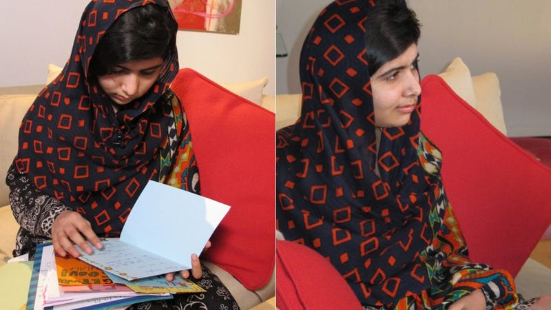 Illustration for article titled Malala Yousafzai Reunites with Friend From Taliban Attack