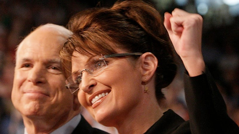 Illustration for article titled John McCain Alarms Everyone by Saying Sarah Palin Was His 'Best' VP Option in 2008