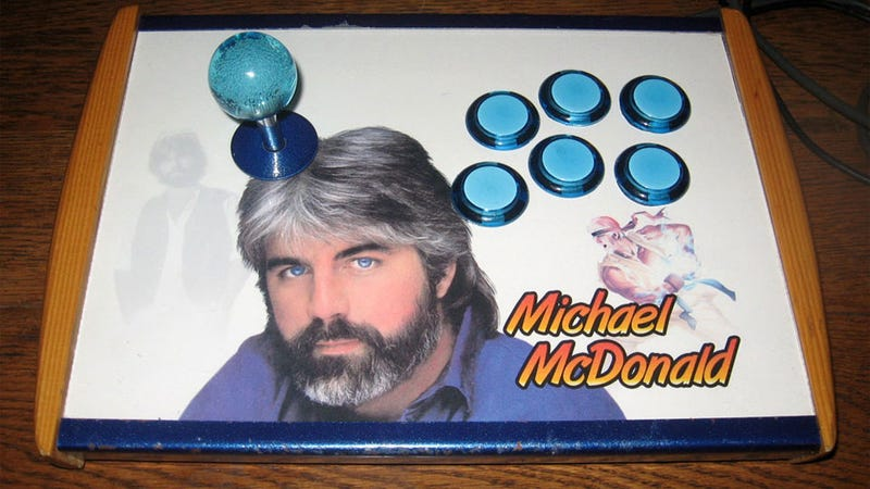Illustration for article titled The Very Last Face I'd Expect to See on an Arcade Stick