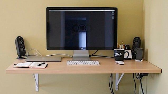 build your own standing desk for 40. Black Bedroom Furniture Sets. Home Design Ideas