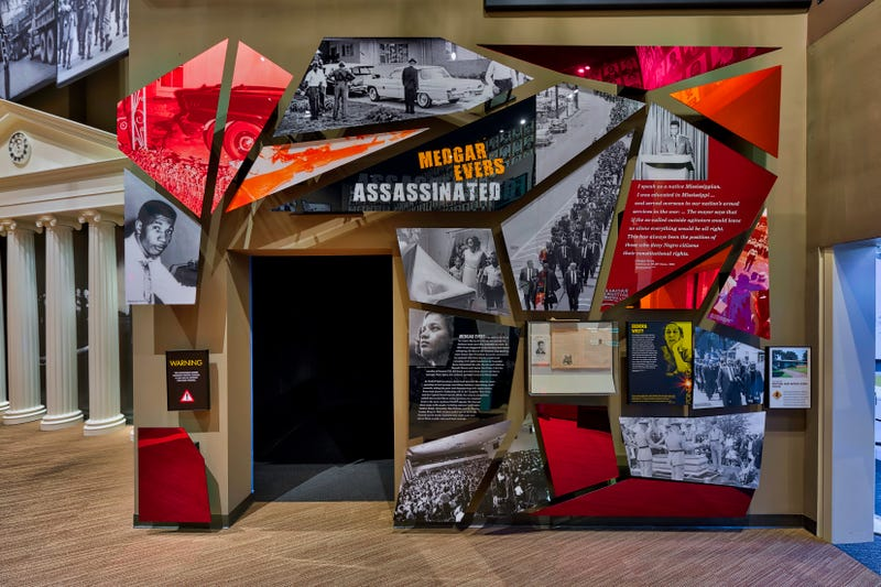 """Medgar Evers Assassinated"" exhibit at the Mississippi Civil Rights Museum (courtesy of the Mississippi Civil Rights Museum)"