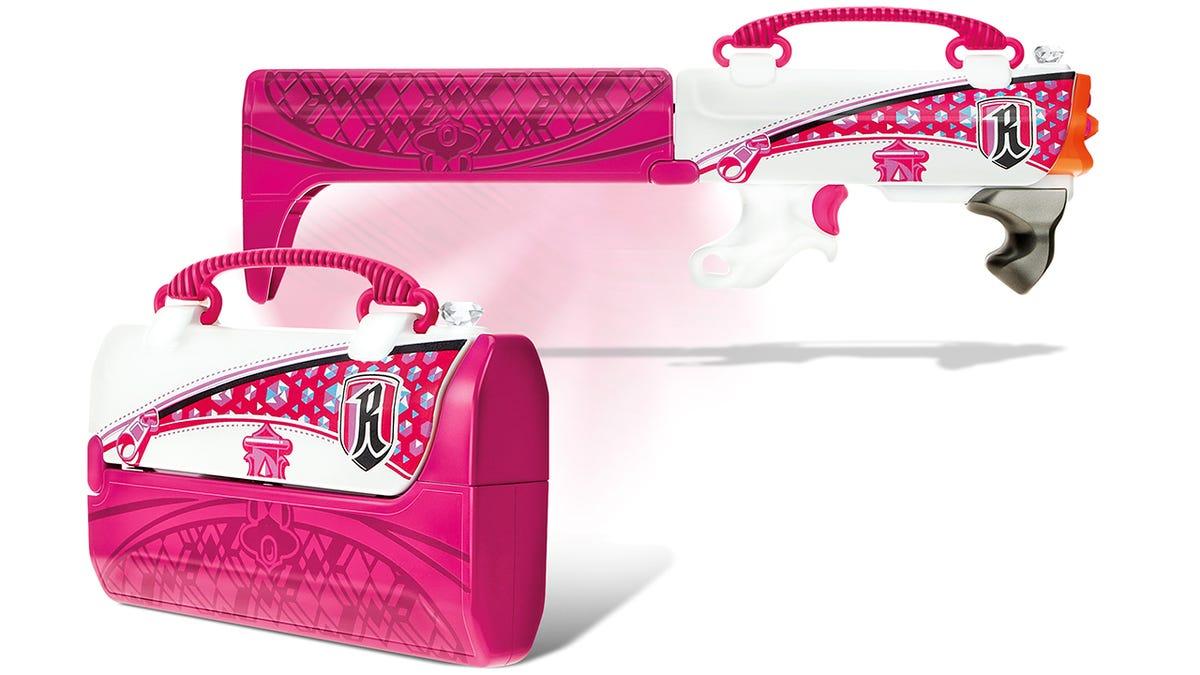 Plastic Pink Angel Girls Gun Toys Outdoor Rebelle Pink Crush Blaster Sweet  Revenge Dart Pistola 28cm 5 bursts Soft Bullet-in Toy Guns from Toys &  Hobbies on ...