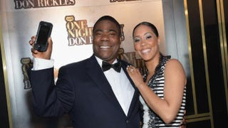 "Tracy Morgan and fiancee Megan Wollover attend Spike TV's ""Don Rickles: One Night Only"" on May 6, 2014, in New York City. Mike Coppola/Getty Images for Spike TV"