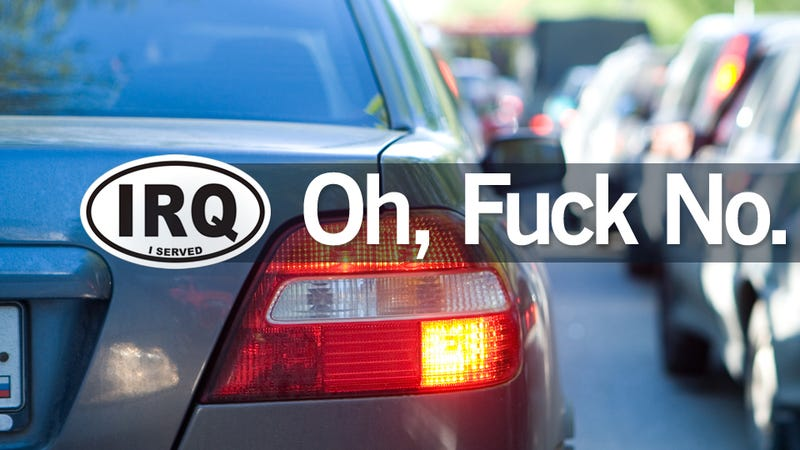 Illustration for article titled The IRQ Car Decal: Noble Or Horrible?