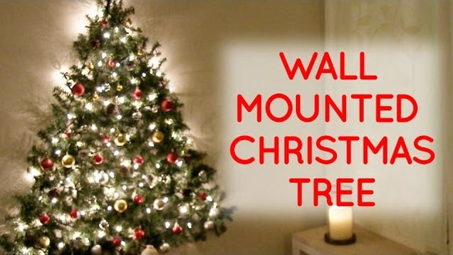 This Wall Mounted Christmas Tree Is Perfect For Small Spaces