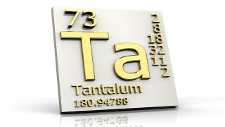 Illustration for article titled Tantalum is the most important element you've never heard of