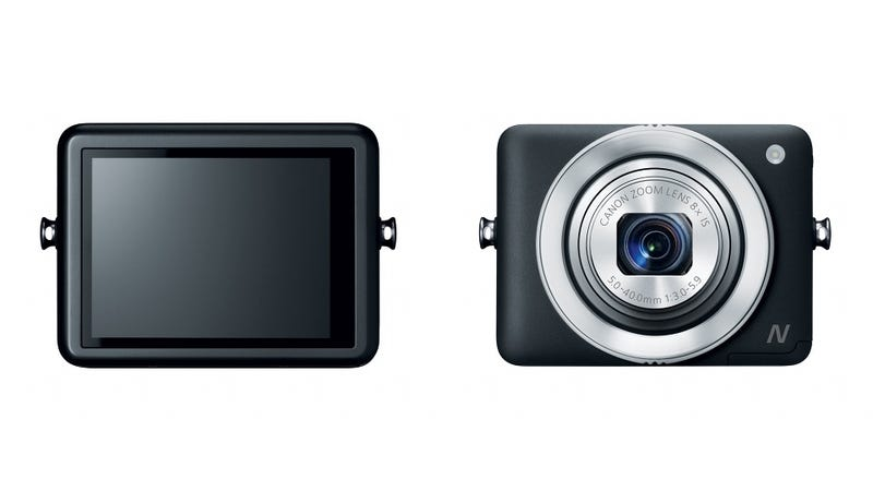 Illustration for article titled Canon Powershot N: The Future of Tiny Cameras Is Eco-Friendly Touchscreen Squares?