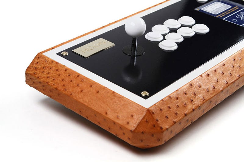 Illustration for article titled Hey, An Arcade Stick With Ostrich Leather On It