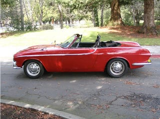 oh holy hell it 39 s a v 8 powered volvo p1800 convertible. Black Bedroom Furniture Sets. Home Design Ideas