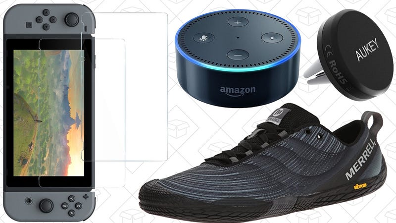 Illustration for article titled Today's Best Deals: Anker Switch Accessories, Echo Dots, Merrell Shoes, and More