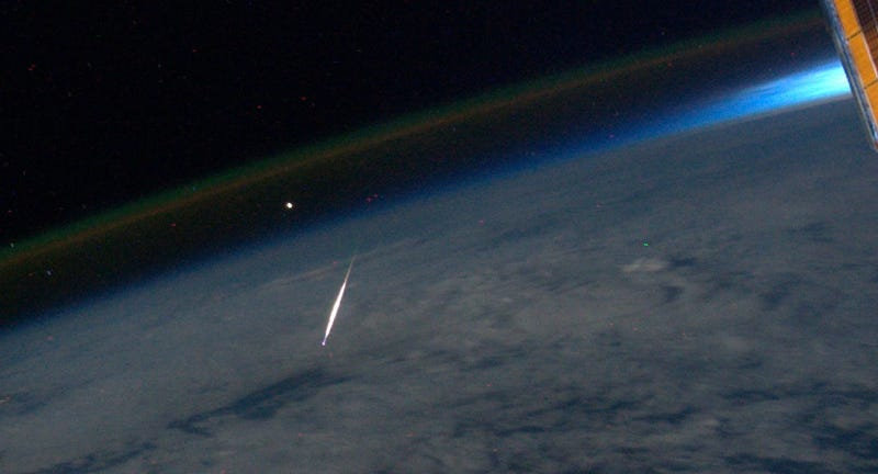 Illustration for article titled And now, the Perseid shower from the International Space Station