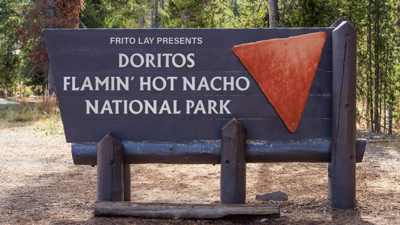 Illustration for article titled David Bernhardt Denies Business Interests Influenced Yellowstone's Name Change To Frito Lay Presents Doritos Flamin' Hot Nacho National Park
