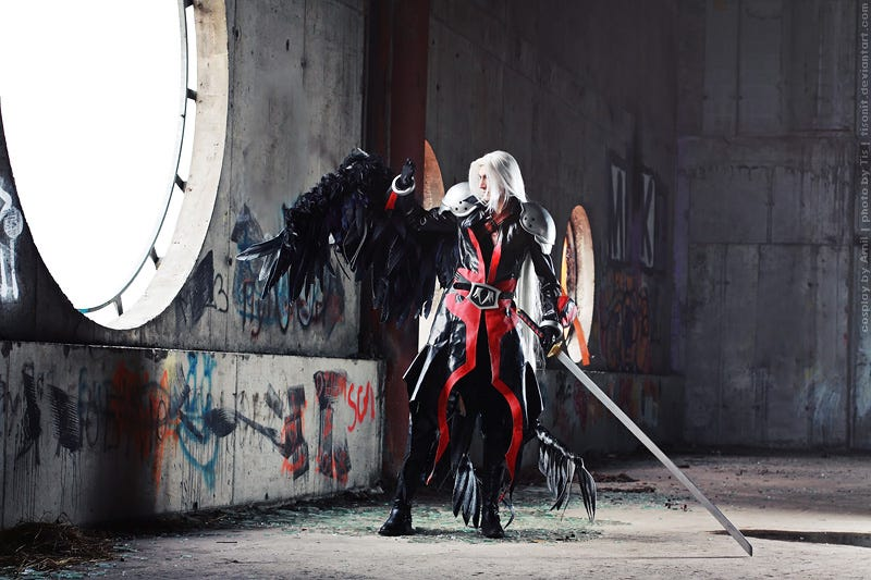 On Your Knees I Want You To Beg For This Sephiroth Cosplay