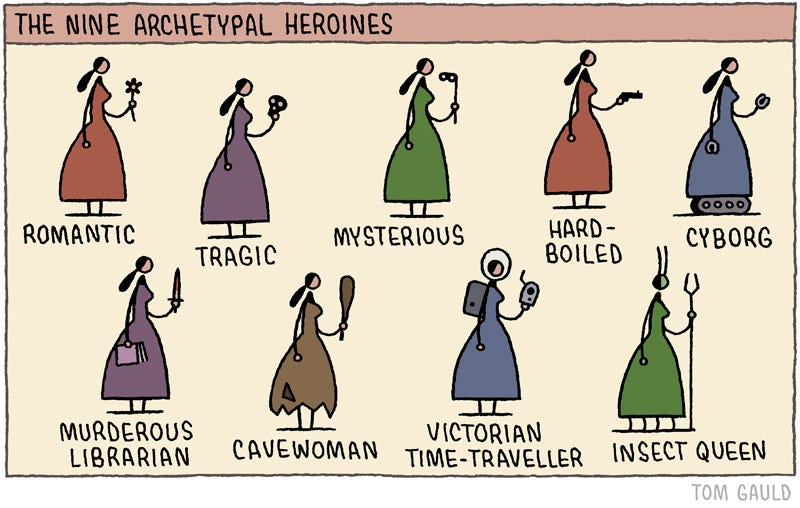 Illustration for article titled The 9 archetypal heroines in ficton...